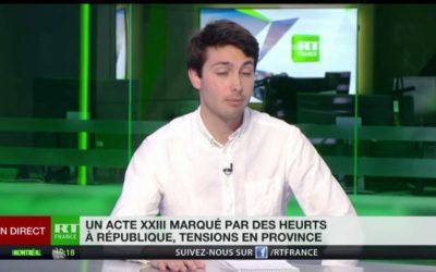 Notre coordinateur Florent Aubert était sur RT pour commenter la crise des gilets jaunes.